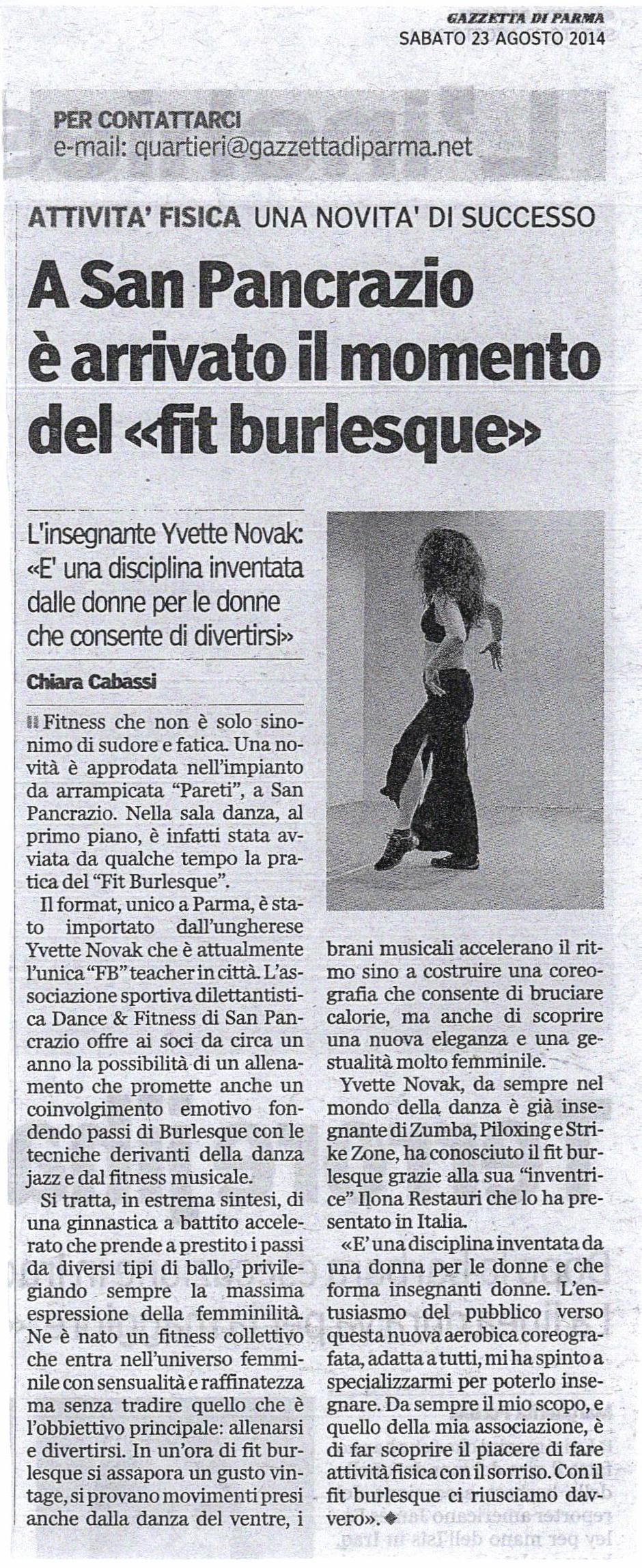 Fit Burlesque a Parma
